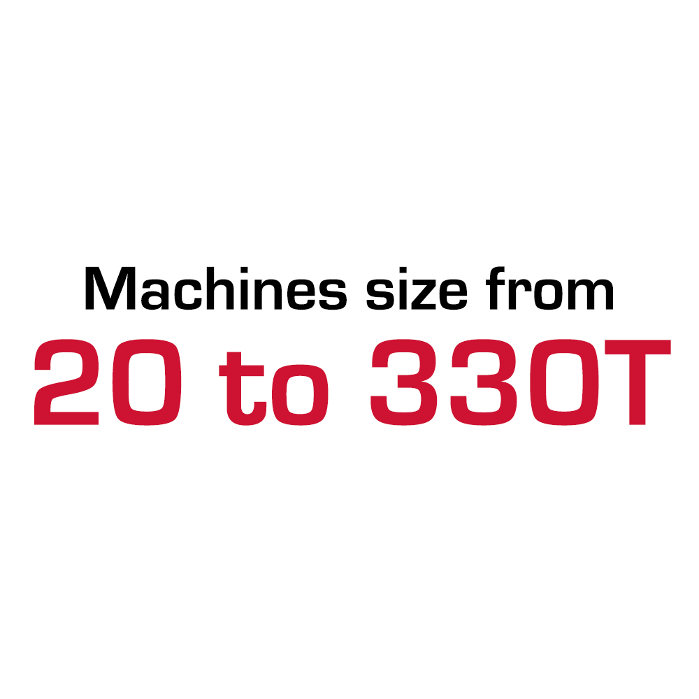 Machines size from 20 to 330T