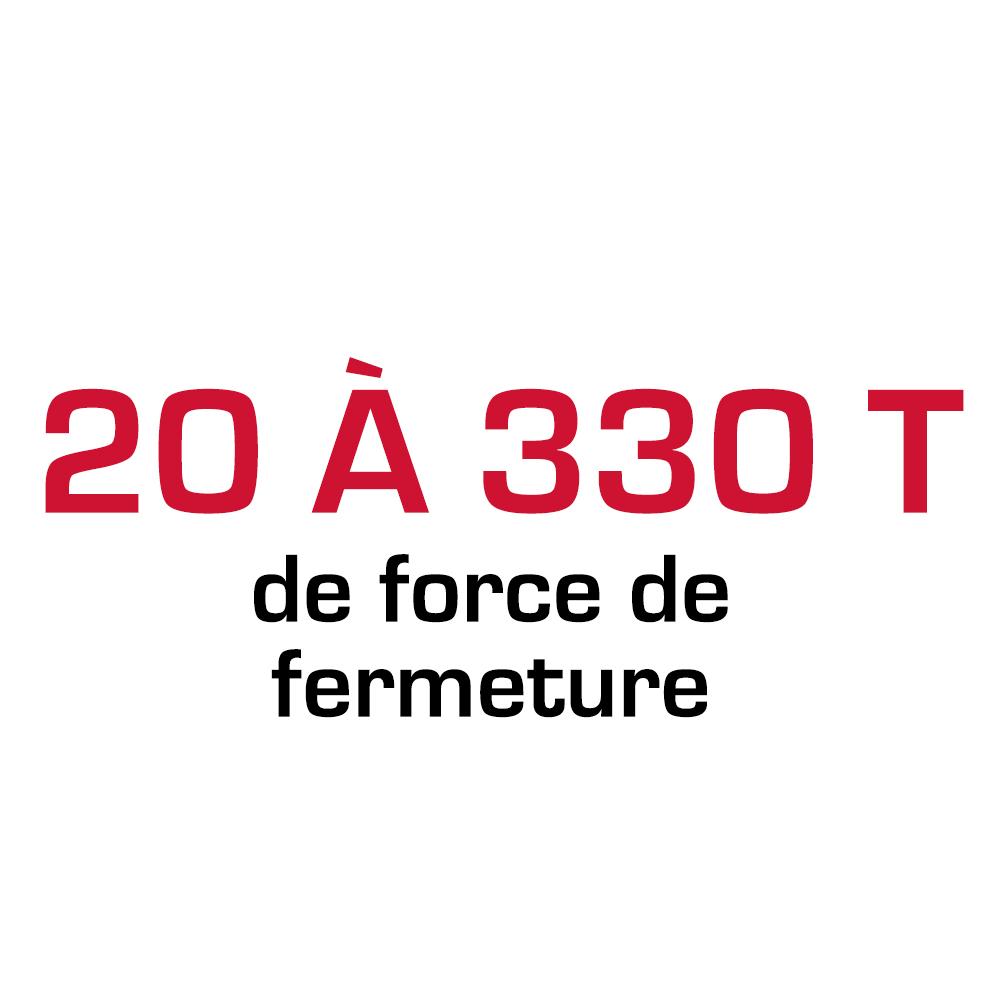 20 à 220 T de force de fermeture